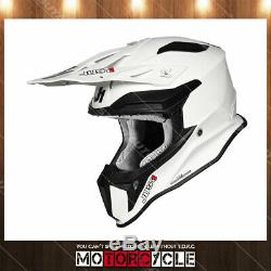 Fiberglass Motorcycle Off Road ATV Dirt Bike MX Motocross Helmet Gloss White XS