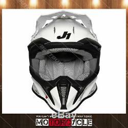 Fiberglass Motorcycle Off Road ATV Dirt Bike MX Motocross Helmet Gloss White XXL