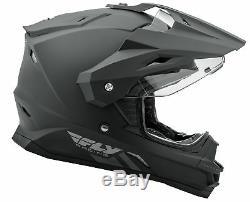 Fly Racing Adult Matte Black Trekker Dirt Bike Helmet ECE/DOT ATV UTV MX