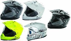 Fly Racing Adult Trekker Solid Dirt Bike Dual Sport Helmet MX ATV Offroad 2018