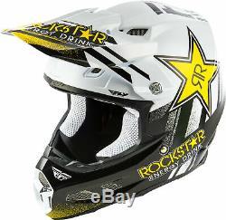 Fly Racing F2 Carbon MIPS Rockstar Helmet Motocross Dirt Bike ATV