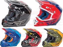 Fly Racing F2 Carbon Pure Helmet Motocross Dirt Bike Offroad ATV UTV Snowmobile