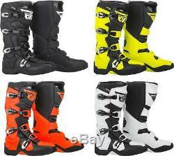 Fly Racing FR5 Boots MX Motocross Dirt Bike Off-Road ATV Mens Gear