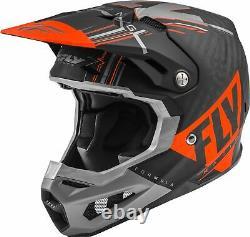 Fly Racing Formula Vector MX Dirt ATV Helmet MATTE ORANGE GREY BLACK