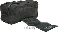 Fly Racing Grande Roller Gear Bag Pack Black Grey Motocross MX ATV Dirt Bike UTV