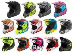 Fly Racing Kinetic Elite Helmet Motocross Dirt Bike Offroad MX ATV Snowmobile