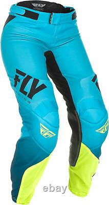 Fly Racing Womens Blue/Hi-Vis Lite Dirt Bike Pants ATV UTV MX