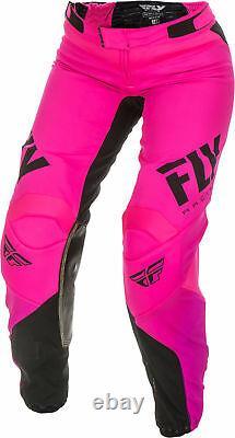 Fly Racing Womens Neon Pink/Black Lite Dirt Bike Pants ATV UTV MX