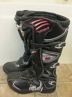 Fox Comp 5 Men Comp Black White Dirt Bike Boots Motocross 42.5 ATV 9 M New