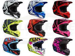Fox Racing 2017 V1 Race Helmets Motocross Off-Road Dirt MX/ATV Youth Boys Girls