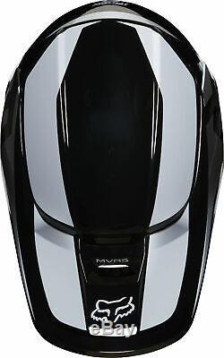 Fox Racing Adult Black/White V1 Prix Dirt Bike Helmet MX ATV 2020