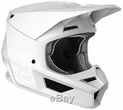Fox Racing Adult Matte White V1 Solid Dirt Bike Helmet MX ATV 2020