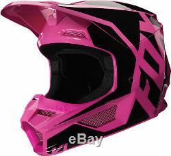 Fox Racing Adult Pink/Black V1 Prix Dirt Bike Helmet MX ATV 2020