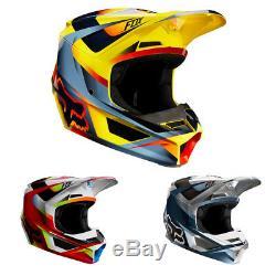 Fox Racing Adult V1 Helmet Motif Motocross Dirt ATV Off Road MVRS NEW IN BOX