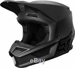Fox Racing Adult V1 Matte Black Dirt Bike Helmet Motocross ATV UTV