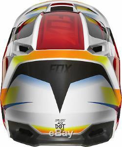 Fox Racing Adult V1 Motif Red/White Dirt Bike Helmet Motocross ATV UTV