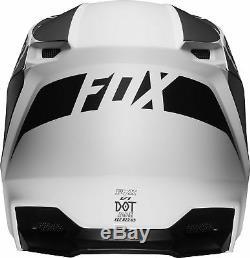 Fox Racing Adult V1 Przm Black/White Dirt Bike Helmet Motocross ATV UTV