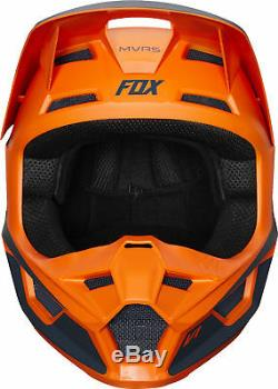 Fox Racing Adult V1 Przm Orange Dirt Bike Helmet Motocross ATV UTV