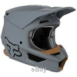 Fox Racing Adult V1 Stone Grey Dirt Bike Helmet Motocross ATV UTV 2X