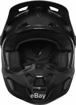 Fox Racing Adult V2 Matte Black Dirt Bike Helmet Motocross ATV UTV