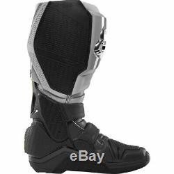 Fox Racing Instinct Motocross Boots Grey/Black Mens Size 10 Off Road Dirt MX ATV