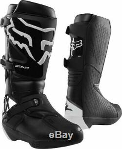 Fox Racing Mens Comp Dirt Bike Boots Motocross ATV MX Black/White Size 13 New