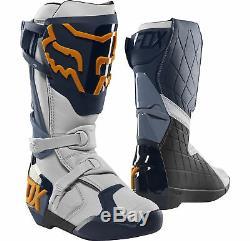 Fox Racing Mens Comp R Navy Blue/Orange Dirt Bike Boots Motocross ATV MX