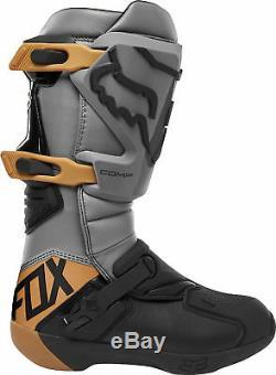 Fox Racing Mens Comp Stone Grey Dirt Bike Boots Motocross ATV MX