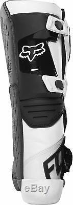 Fox Racing Mens Comp White/Black Dirt Bike Boots Motocross ATV MX