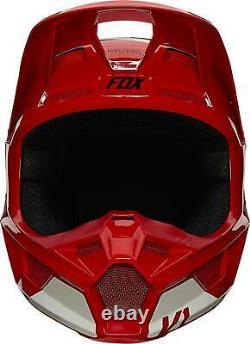 Fox Racing V1 Helmet MX Motocross Dirt Bike Off-Road ATV Flame Red Adult