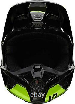 Fox Racing V1 Helmet MX Motocross Dirt Bike Off-Road ATV Flo Yellow