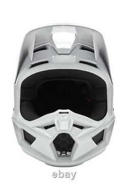 Fox Racing V1 Helmet MX Motocross Dirt Bike Off-Road ATV Gloss White Adult
