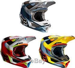 Fox Racing V1 Motif Helmet MX Motocross Dirt Bike Off-Road ATV MTB Adult Gear
