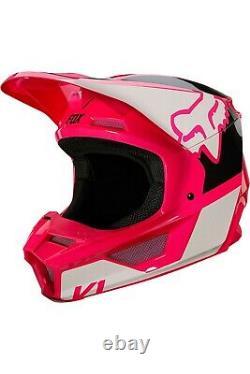 Fox Racing V1 REVN Helmet MX Motocross Dirt Bike Off-Road ATV Pink Adult
