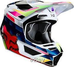 Fox Racing V2 Kresa Helmet MX Motocross Dirt Bike Off-Road ATV MTB Men Women