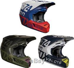 Fox Racing V3 Draftr Helmet 2018 MX Motocross Dirt Bike Off-Road ATV MIPS