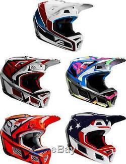 Fox Racing V3 Helmet MX Motocross Dirt Bike Off-Road ATV UTV MTB Men Women