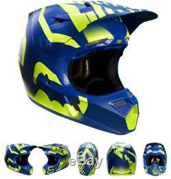 Fox Racing V3 Savant LE Motocross MX Off Road Enduro ATV UTV Dirt DOT Helmet