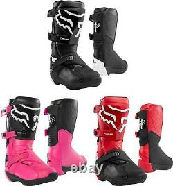 Fox Racing Youth Comp Boots MX Motocross Dirt Bike Off-Road ATV Boys Girls