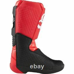 Fox Racing Youth Comp Boots MX Motocross Dirt Bike Off-Road ATV Flame Red