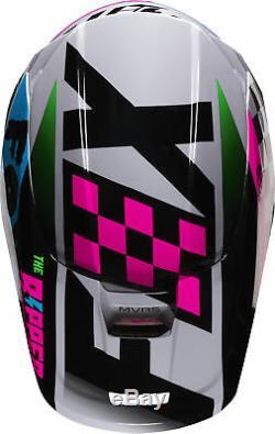 Fox Racing Youth V1 Czar Light Grey Dirt Bike Helmet Motocross ATV UTV
