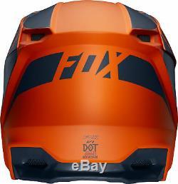 Fox Racing Youth V1 Przm Orange/Grey Dirt Bike Helmet Motocross ATV UTV