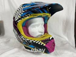 Fox V3-Pilot Motocross Helmet XL Blue Yellow Black Pink ATV Dirt bike