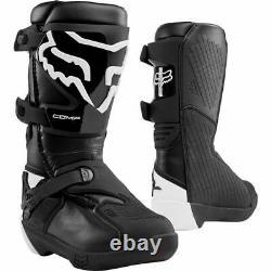 Fox Youth Comp Boot Motocross Atv Dirt MX Black 8 USA Youth 24014-001