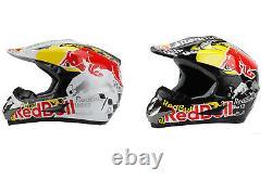 Full Face Adult Helmet ATV MX Motocross Dirt Bike Red Bull Black Racing Sport XL