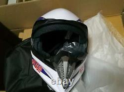 Full Face Helmet ATV BMX MX Dirt Bike Red Bull Adult Motocross Bike Racing Sport