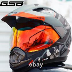 GSB Adult Motocross Helmet Full Face ATV MX Downhill Off Road Dirt Bike DOT&ECE