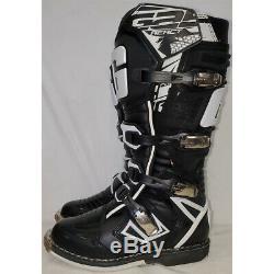 Gaerne G-React Dirt MX ATV SxS Offroad Motocross Boots Black Size 12 US / 47 EU