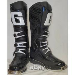 Gaerne G-React Dirt MX ATV SxS Offroad Motocross Boots Black Size 8 US / 42 EU