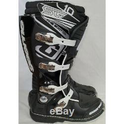 Gaerne SG-10 Dirt MX ATV SxS Offroad Motocross Boots Black Size 9 US / 43 EU